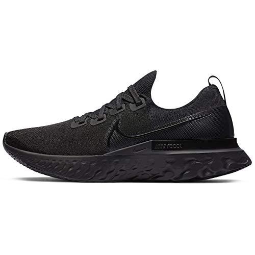 Nike React Infinity Run FK, Zapatillas para Correr para Hombre, Black Black Black White, 42.5 EU
