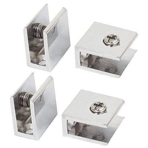 Aexit 4Stk Zwingen, Klemmen & Spanner einstellbare Schraube rechteckige Klammer Halter für 10mm Winkelspanner dickes Glas