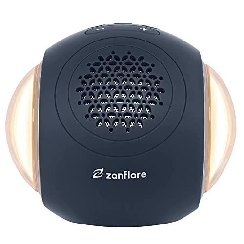 Máquina de ruido blanco Zanflare, máquina de sonido con luz nocturna, 35 sonidos de naturaleza/ventilador/ruido blanco, temporizador de apagado automático y función de memoria(Azul acero)