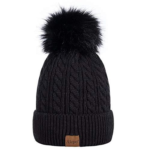 Alepo Womens Winter Beanie Hat, War…