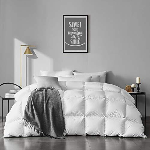 APSMILE Organic Cotton Goose Feather Down Comforter Medium...