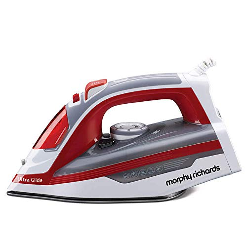 Morphy Richards Ultra Glide 1600-Watt Steam Iron (Red/White)
