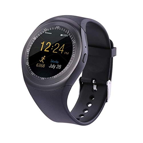 Simshew Fitness-Tracker Smartwatch Phone Touchscreen Smart Watch Bluetooth Armbanduhr 696 Y1 Bluetooth Android Smart Watch wasserdichte SIM-Karten-Armbanduhr Herzfrequenz- und Schlafüberwachung