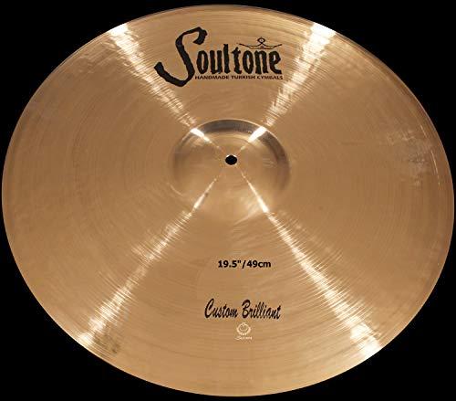 Soultone Cymbals Custom Brilliant, 19,5 Zoll Ride-Becken (CBR-RID-19,5)