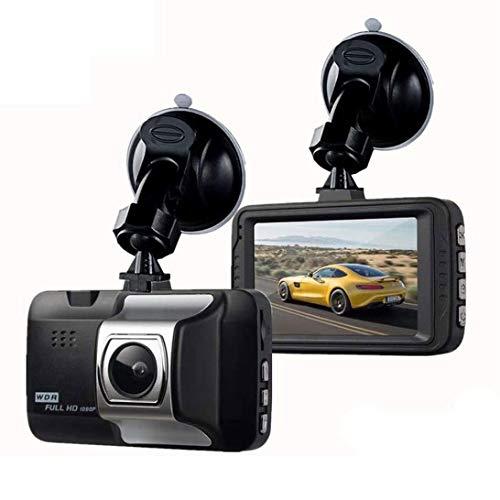 QCHEA Coche Profesional Dash CAM 1080p 3inch Cámara HD grabadora de conducción 170 Tablero de Tablero de Gran Angular DVR Vehículo G-Sensor ABS plástico