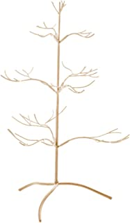 Red Co. Ornament Tree Christmas Décor/Jewelry and Accessory Display in Gold Finish - 25