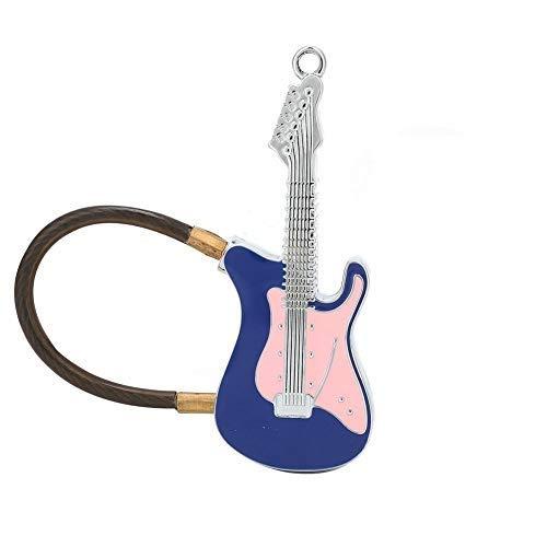 Candado con huella digital Bluetooth, candado con huella digital en forma de mini guitarra, mochila de equipaje sin llave Smart Semiconductor Armario para armario Armario con candado 10 huellas digita