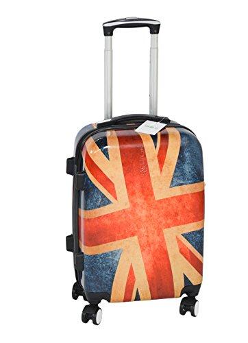 Suitcase Union Jack Light 4 Wheel Spinner Hard Shell Luggage Trolley Cabin Case - 20' (20 Inch, Union Jack)