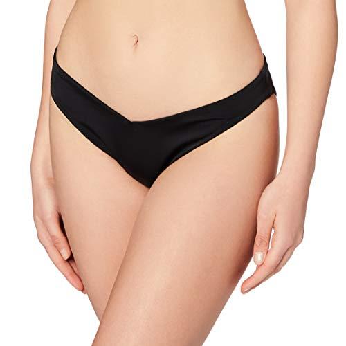 Marchio Amazon - Iris & Lilly Slip Bikini Sgambato Donna, Nero, S, Label: S