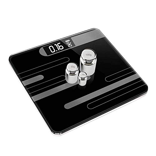 GNLIAN HUAHUA Escala de pesaje de Balanza de Alta precisión Escala electrónica, baño Digital de la Temperatura Templado Escala de Cristal, Negro
