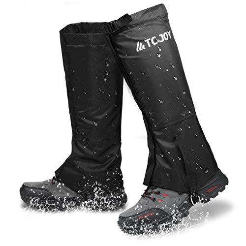 TC Joy Waterproof Leg Gaiters, Outdoor Snow Boot Gaiters for Hiking Walking Running, Anti-Tear 900D Oxford Fabric Hunting Gaiters for Man/Woman, L