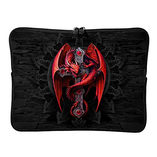Funda para portátil en 5 tamaños, ligera, con diseño de dragón rojo, protección para portátil, adecuada para viajes de negocios
