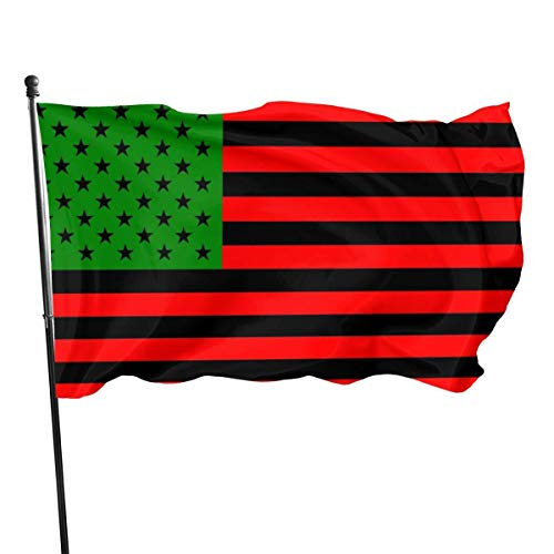Emonye Flag Outdoor Flags African American Flag - Red Black and Green 3X5 Ft Flag for Outdoor Indoor Home Decor Sports Fan Football Basketball Baseball Hockey