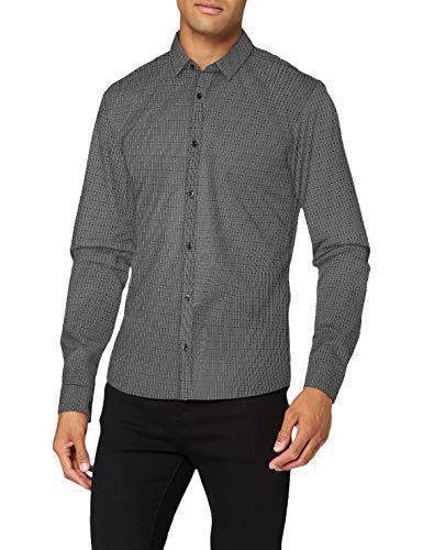 HUGO Herren Shirt Ero3-W, Black(001), L
