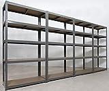 4 Garage Shelving Units 5Tier - 180 High, 90 Wide, 40 Deep (cm) 175kg Per Shelf