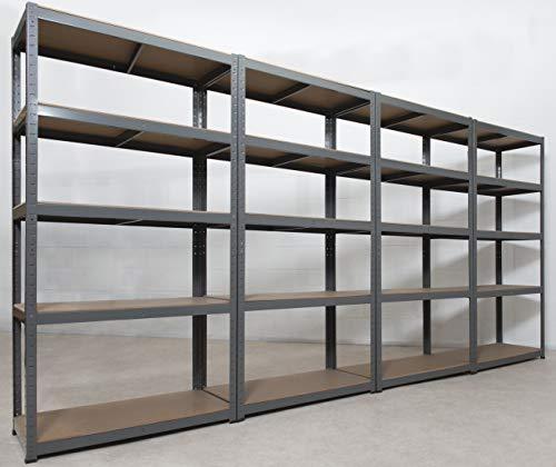 4 Garage Shelving Units 5Tier - 180 High, 90 Wide, 40 Deep (cm) 175kg Per...