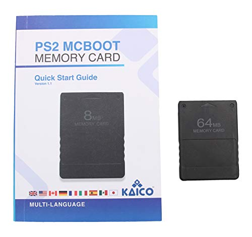 Kaico Free Mcboot 64MB PS2 Speicherkarte mit FMCB PS2 Mcboot 1.966 für Sony Playstation 2 - FMCB Free Mcboot Ihre PS2 - Plug and Play - Playstation 2 CFW McBoot 1.966