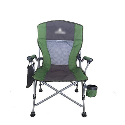 Sillas de pesca Silla de playa silla plegable al aire libre 筏 silla de pesca silla de camping silla actor actor director silla de dibujo silla de pintura ( Color : Green , Size : 58*58*102cm )