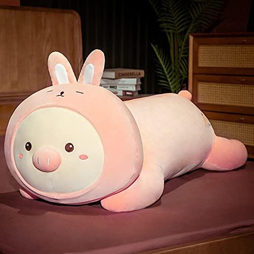 AYQX 60 cm-100 cm Maiale Dinosauro Husky Coniglio Orso Bambole Cuscino Adorabile Cuscino per Dormire Bambini Ragazza Decorazione per la casa Regalo di Compleanno 100 cm Coniglio