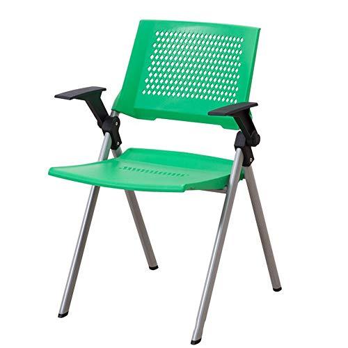 ZXJUAN Modieuze kunststof klapstoel met rugleuning bureaustoel plastic stoel