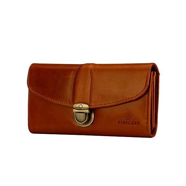 Finelaer Leather Clutch Purse Envelope Card Holder Wallet 3
