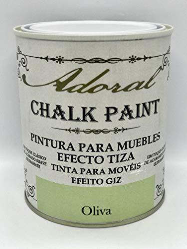 Adoral - Chalk Paint Pintura para muebles Efecto Tiza 750 ml (Verde Oliva)