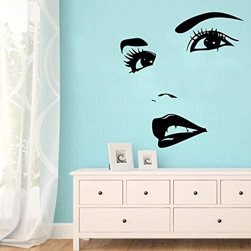 WERWN Hermosos Ojos salón de Belleza Pegatinas de Pared decoración de la habitación de los niños Pared