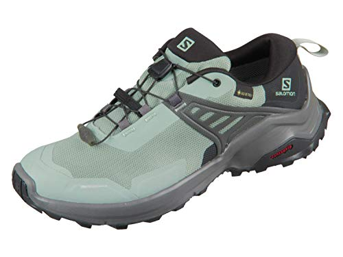 Salomon Damen Shoes X Raise GTX Trekkingschuhe, Mehrfarbig (Grünes Milieu/Schwarz/Magnet), 38 EU