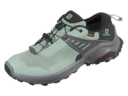 SALOMON Damen Shoes X Raise GTX Trekkingschuhe, Mehrfarbig (Grünes Milieu/Schwarz/Magnet), 40 EU