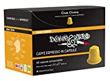 Dolce & Nero Coffee Espresso Capsules - 50 Coffee Pods original line - Compatible with Nespresso Machine - Fine Italian Coffee Gran Crema