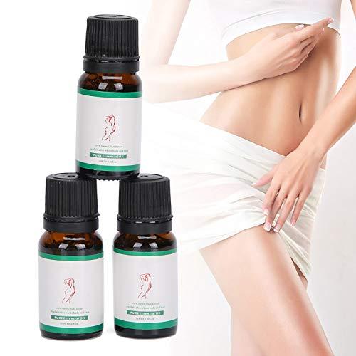3pcs Aceite Esencial Adelgazante Reafirmante Anti-Celulitis Aceite de Masaje Moldeador Quemador de Grasa 10ml para Cintura Piernas Brazos Abdomen Glúteos Todo el Cuerpo
