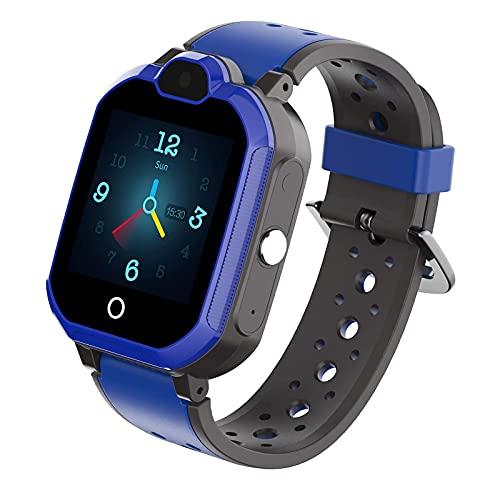 G&UWEI Teléfono Relojes Inteligentes para Niños Niñas, Teléfono A Prueba De Agua IP67 GPS Tracker Watch Teléfono, para 3-12 Años De Antigüedad Regalos De Cumpleaños De Navidad