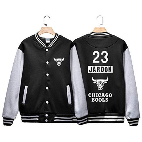 2021 Nueva temporada Michael Jordan Jersey para hombres, Lakers 23 # manga larga moda sudadera chaqueta, unisex impreso deportes camisetas top (S-XXL) XL