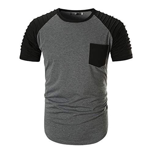 Roiper_ Homme Vetements Taille Plus Hommes Mode Lâche Blouse Star Stripe USA Drapeau Amérique T-Shirt Élégant Casual Hommes Plus Taille Mode Mocassins Star Stripe Drapeau Américain USA T-Shirt