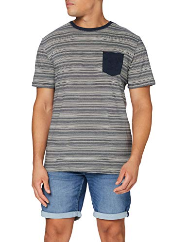 Quiksilver Herren T-Shirt Pavillon Surf - T-Shirt für Männer, Navy Blazer Pavillon Surf, S, EQYKT04052
