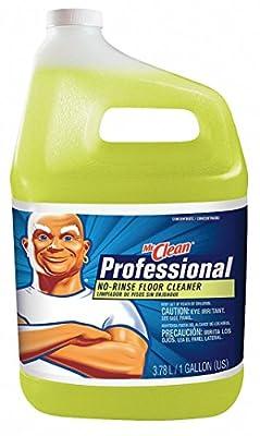 Floor Cleaner, Liquid, 1 gal., Yellow, PK4