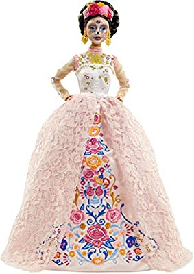 Barbie Signature Dia De Muertos 2020 Doll (12-in Brunette) in Embroidered Lace Dress and Flower Crown, with Certificate of Authenticity from Mattel