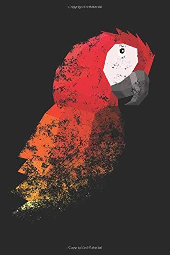 Notizbuch: Papagei Parrot Ara Polygon Art Notizbuch DIN A5 120 Seiten Punktraster für Notizen, Zeichnungen, Formeln | Organizer Schreibheft Planer Tagebuch
