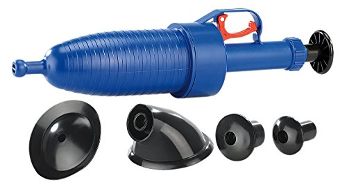 AGT Rohrfrei: Pressluft-Rohrreiniger 3,5 bar mit 4 Aufsätzen für alle Abflüsse (Abfluss Reinigen mit Kompressor)