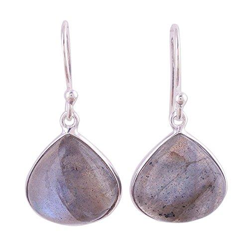 NOVICA Labradorite .925 Sterling Silver Dangle Earrings
