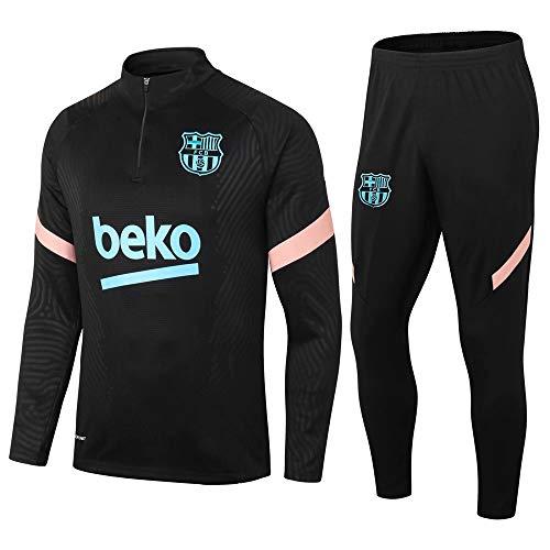 Traje de Entrenamiento de fútbol Traje de Manga Larga Traje de fútbol de Barcelona Suéter Azul Claro y pantalón de Pierna @ 3_S