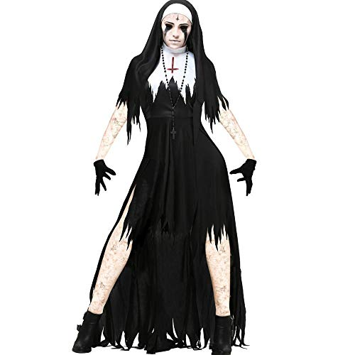 Gbcyp Scary non kostuum zuster roleplay fancy dress up zombie geest heks kostuum