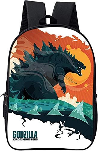 YYXPDD Mochila 3D Godzilla de 13 pulgadas y 16 pulgadas, diseño de dinosaurios, mochila escolar ligera y transpirable, regalo infantil, Anime5., 16zoll Grundschüler,