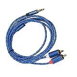Jorzer Cable De Cable De Audio Auxiliar De 3,5 Mm a 2 Rca Al Macho Aux Aux 3,5 Mm Jack Estéreo a 2rca Phono Taps