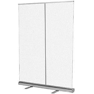 HKAFD – Protezione per starnuti da pavimento, trasparente Roll Up Banner Pop Up in PVC Divisore largo per starnuti