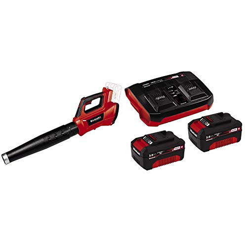 Einhell Spazzafoglie a Batteria Ge-Lb 36/210 Li E-Solo Power X-Change + 2X 3,0Ah & Twincharger PXC Starter Kit