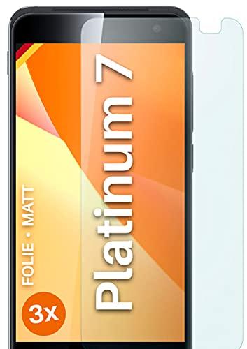 moex Schutzfolie matt kompatibel mit Vodafone Smart Platinum 7 - Folie gegen Reflexionen, Anti Reflex Bildschirmschutz, Matte Bildschirmfolie - 3X Stück
