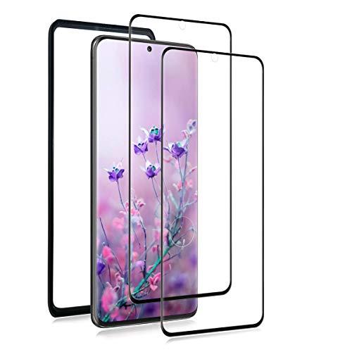 XXUYH S20 Ultra 5G Cristal Templado (2 Piezas) (con Kit de Instalación), S20 Ultra 5G Protector Pantalla, 3D Cobertura Completa/ 9H Dureza Protector de Pantalla para Samsung Galaxy S20 Ultra 5G