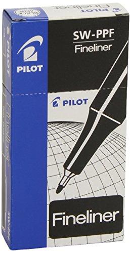 Pilot SW-PPF 0.4mm Fineliner Pen Bulk Pack (12 Stück) - Schwarz