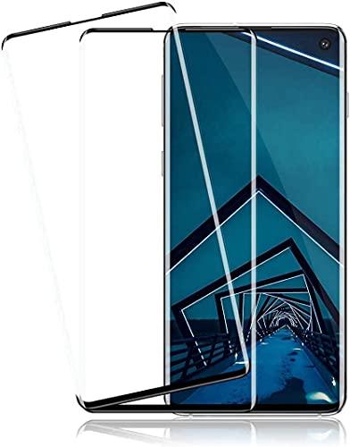 [Lot de 3] films de protection d'écran en verre trempé pour Samsung Galaxy S10 Plus, anti-éclats, sans bulles, dureté 9H, compatible avec capteur